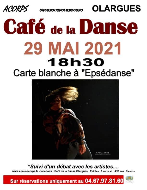 Affiche du Café de la Danse du 29 mai 2021